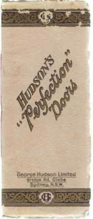 "Hudson's ""Perfection"" Doors, Catalog No. 60. Doors, George Hudson Limited"