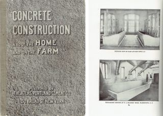 Concrete Construction About the Home and on the Farm. Concrete, Cement