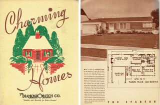 Charming Homes. Pattern Book, Chico Diamond Match Co., CA
