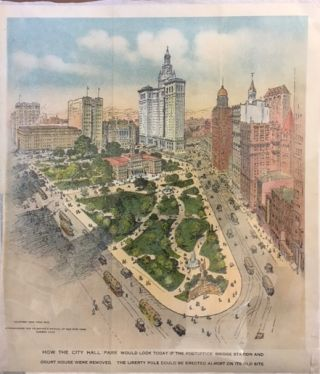 How the City Hall Park Would Look Today if the Post Office Bridge Station and Court House Were...