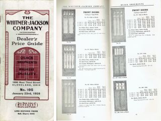 Dealer's Price Guide No. 105. Millwork, Inc Whitmer-Jackson Company