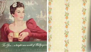 For You . . . a bright new world of wallpapers. Wallpaper, Sears Roebuck, Co, trade catalog