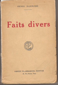 Faits Divers (from the library of photographer Lotte Jacobi, w/ author's inscription to her)....