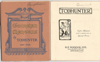 Three Todhunter Brochures, 1. Eight Mantels made to standard sizes at special prices; 2. Georgian...